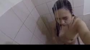 Cute teen taking a shower is getting her pussy pounded under the shower