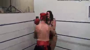 Sexy goldenshower boxing students showing how to fight with each other