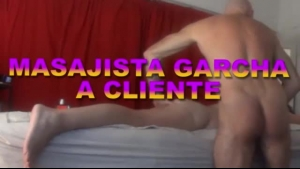 Naughty gay masseur fuck by bondage fetish client