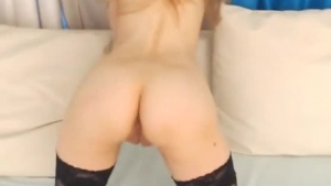 Slutty girl, Mariah Mae is drilling her tight pussy with fingers, while in front of the camera
