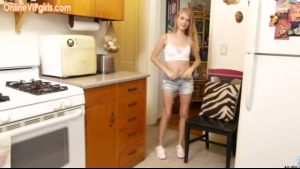 Sexy blonde, From Asia is getting nailed in the kitchen while waiting for her breakfast