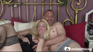 Horny wife tied up and fucked by her black husband
